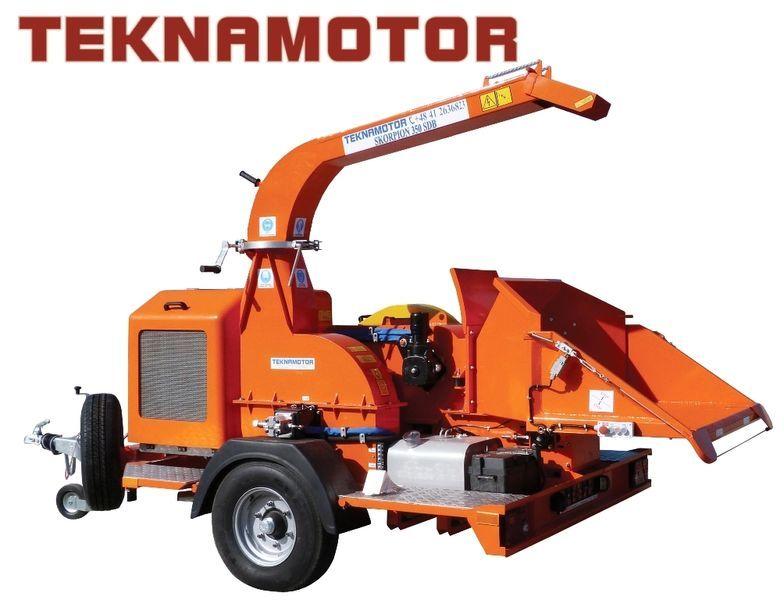 καινούριο τεμαχιστής κλαδιών TEKNAMOTOR Skorpion 350 SDB