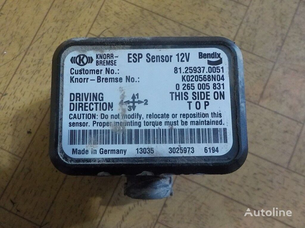 φορτηγό MAN για ενδείκτης  Sensor,datchik ESP