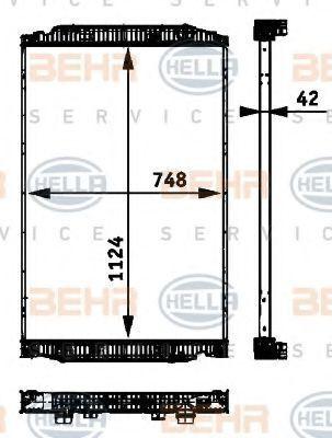 καινούριο φορτηγό IVECO STRALIS για καλοριφέρ  BEHR HELLA.NISSENS.VALEO.NRF 41214447.8ML376 724-251.41214448.8MK376 721-741.NIS 63329A.