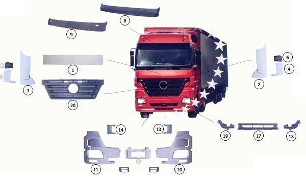 καινούριο φορτηγό MERCEDES-BENZ ACTROS MP2 για καπό  9437500518