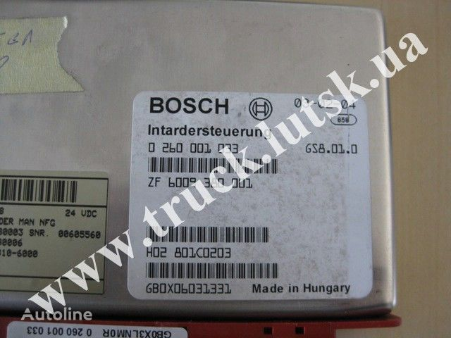 φορτηγό MAN TGA για μονάδα ελέγχου  MAN Bosch