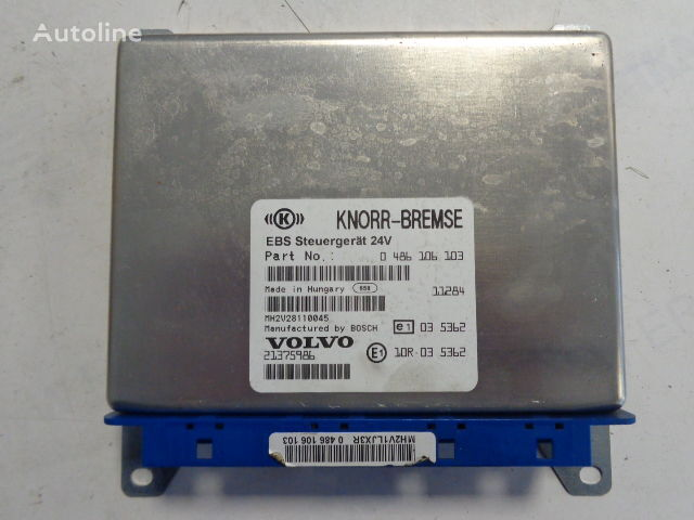 ελκυστήρας VOLVO για μονάδα ελέγχου  KNOR-BREMSE EBS Steuergerat 24V , 0486106063,0486106064, 486108001, 486106028, 486106026, 20565116,21083078,20547967,20410009, 21375986, 0486106103