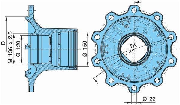 καινούρια ημιρυμουλκούμενο KRONE bpw για πλήμνη τροχού  BPW KURTSAN 0327243140. 0980106580