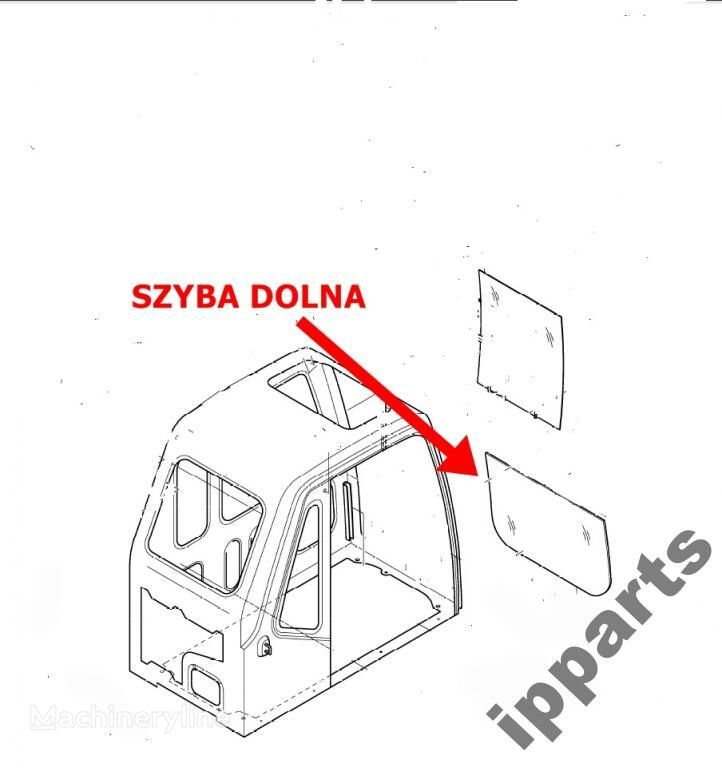 εκσκαφέας DAEWOO 225 Solar dolna 903-00049 koparka 140 για τζάμι παραθύρου