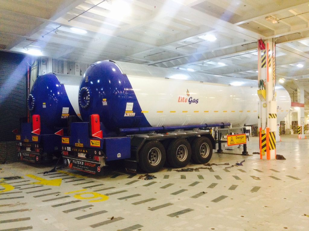 καινούρια δεξαμενή αερίου YILTEKS Semi Trailer LPG Tank 57m3