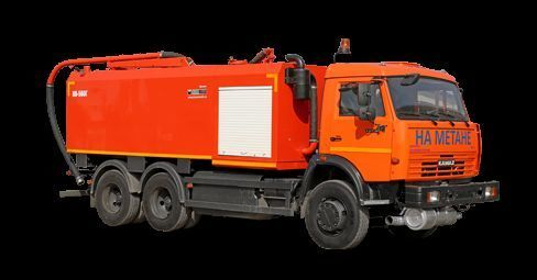 φορτηγό βυτιοφόρο καθαρισμού υπονόμων KAMAZ KO-560G