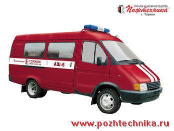 πυροσβεστικό όχημα GAZ ASh-5 Avtomobil shtabnoy