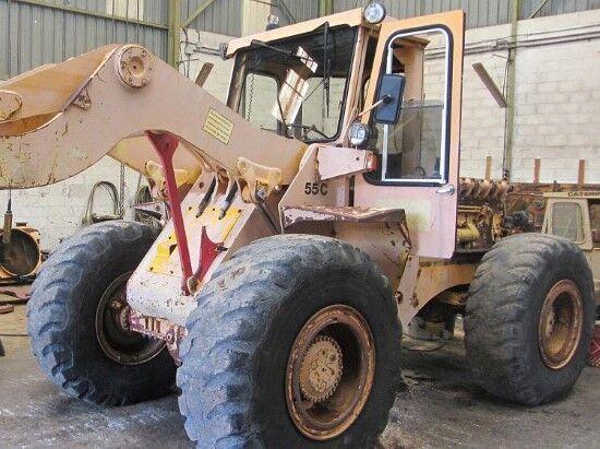 εμπρόσθιος τροχοφόρος φορτωτής HANOMAG 55C κατά ανταλλακτικό
