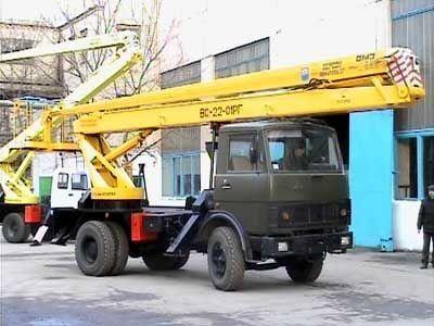 καλαθοφόρο όχημα KAMAZ VS—22-01