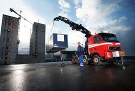 καινούριο γερανοφόρο φορτηγό HIAB XS 855