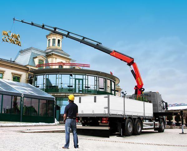 καινούριο γερανοφόρο φορτηγό PALFINGER