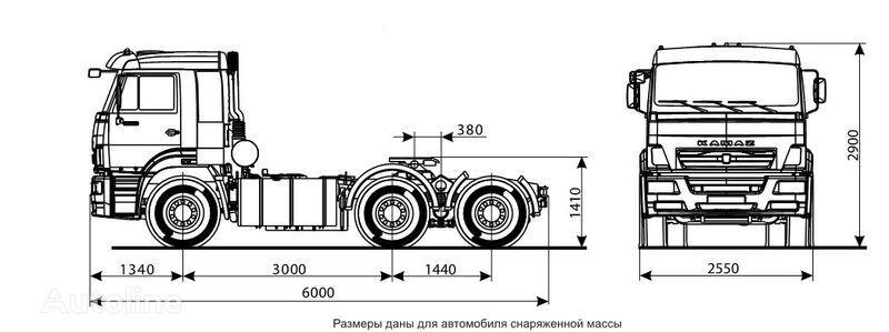 ελκυστήρας KAMAZ 6460 (6h4)