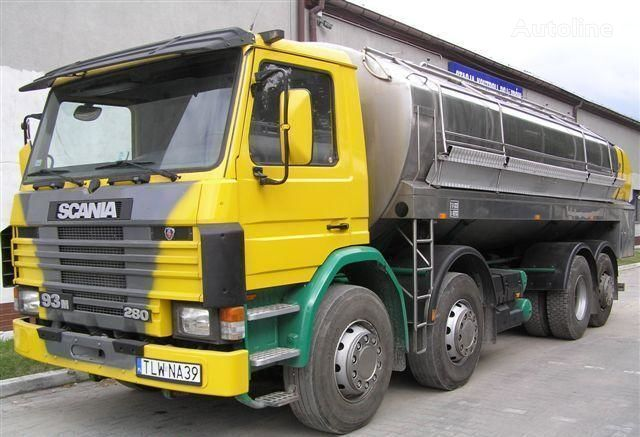 φορτηγό βυτίο μεταφοράς γάλακτος SCANIA 93M Cysterna Spożywcza