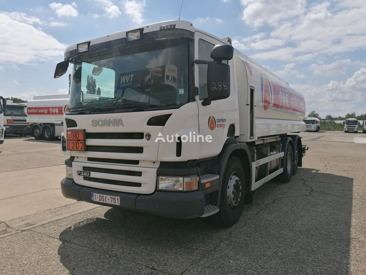 βυτιοφόρο φορτηγό μεταφοράς καυσίμου SCANIA