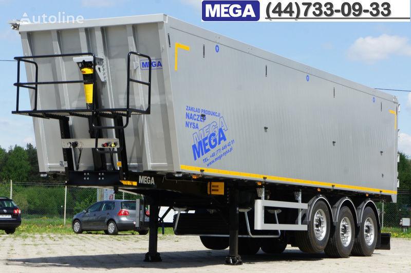 καινούριο ημιρυμουλκούμενο ανατροπής MEGA 50 M³ KIPPER AUS ALUMINIUM ! SUPER LEICHT 5.900 KG !  = BEREIT !