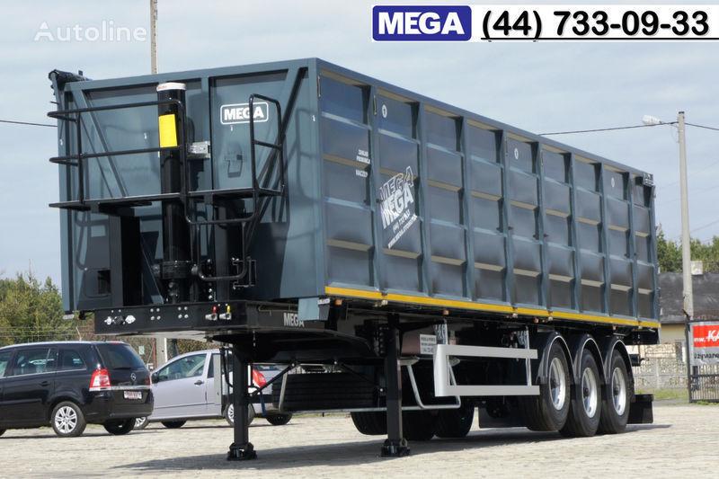 καινούριο ημιρυμουλκούμενο φορτηγό μεταφοράς σιτηρών MEGA 11,4 m / V = 55 m³ ctalovyy kuzov klapan-dverey / Luk dla zerna!