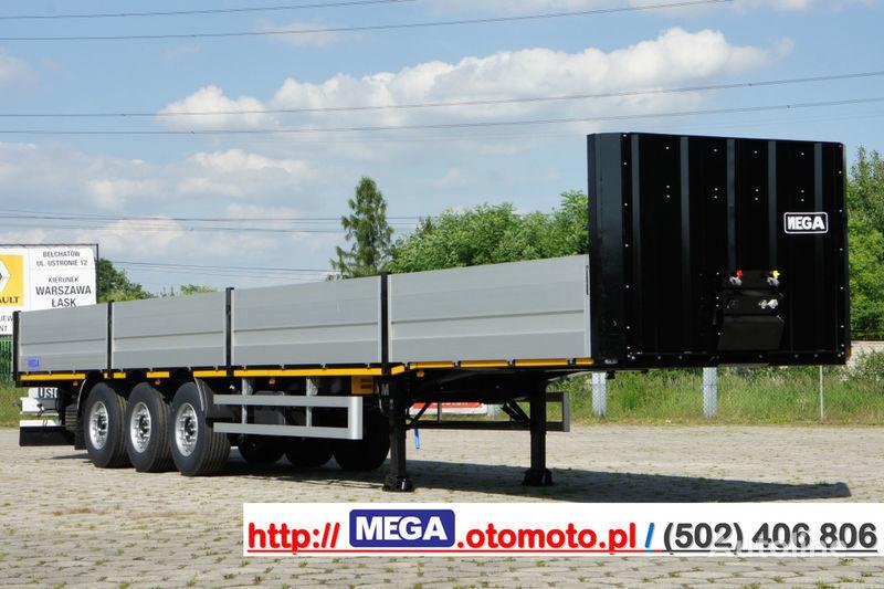 καινούριο ημιρυμουλκούμενο με επίπεδη καρότσα MEGA MNS 22,5 - PLATFORM & ALUSIDES 800 MM /  STRONG  FRAME DOMEX650