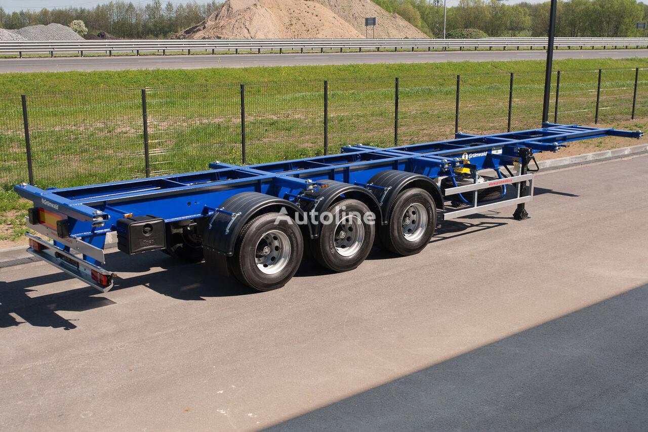 καινούριο ημιρυμουλκούμενο μεταφοράς εμπορευματοκιβωτίων GRUNWALD Versatile heavy duty container semitrailer