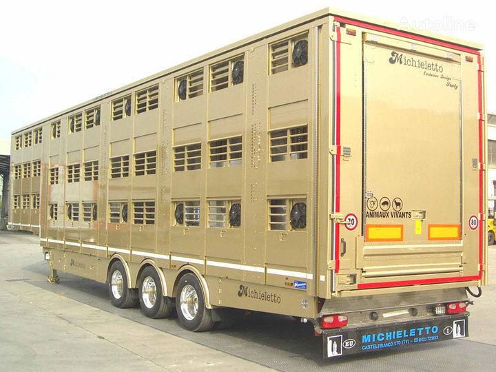 καινούριο ημιρυμουλκούμενο όχημα μεταφοράς ζώων MICHIELETTO
