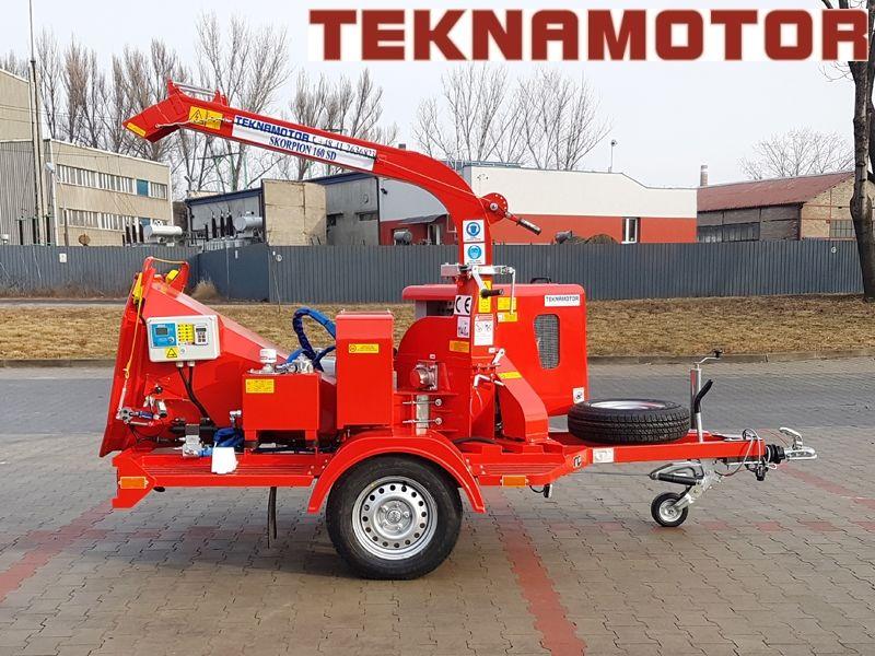 καινούριο τεμαχιστής κλαδιών TEKNAMOTOR Skorpion 160SD