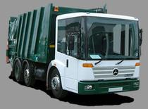 Μάντρα αποθεμάτων (στοκ) Refuse Trucks