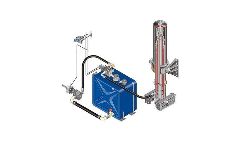 καινούρια ελκυστήρας για δεξαμενή υδραυλικού υγρού  Komplekt gidravliki ITALIYa/AVSTRIYa/na MAN/DAF/IVECO/RENAULT