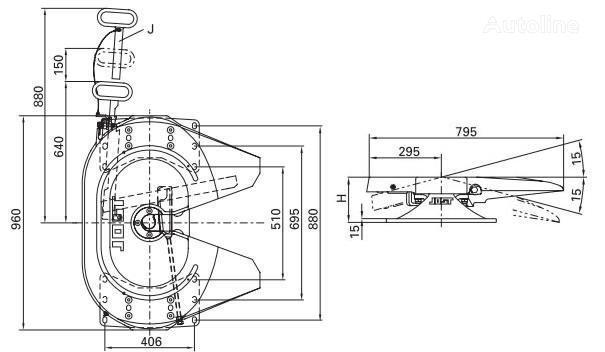 τράκτορας για έδρανο ζεύξης (κοτσαδόρος επικαθήμενου) Jost 115 185mm