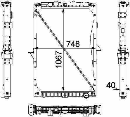 καινούριο φορτηγό DAF XF95.105XF για καλοριφέρ  1674136. 1692332. 1739550 .1856628. 8MK376 733-7111861737. 1861737R