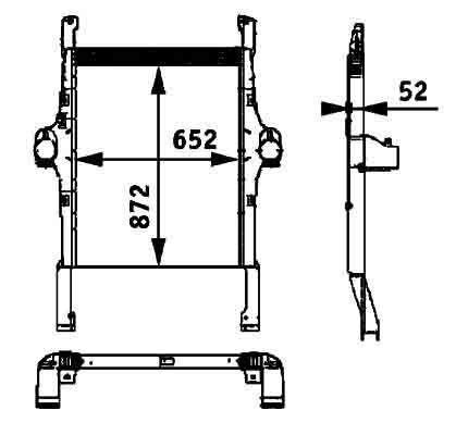 καινούριο ελκυστήρας IVECO STRALIS για καλοριφέρ  BEHR HELLA IVECO 41214448.8ML 376 724-251