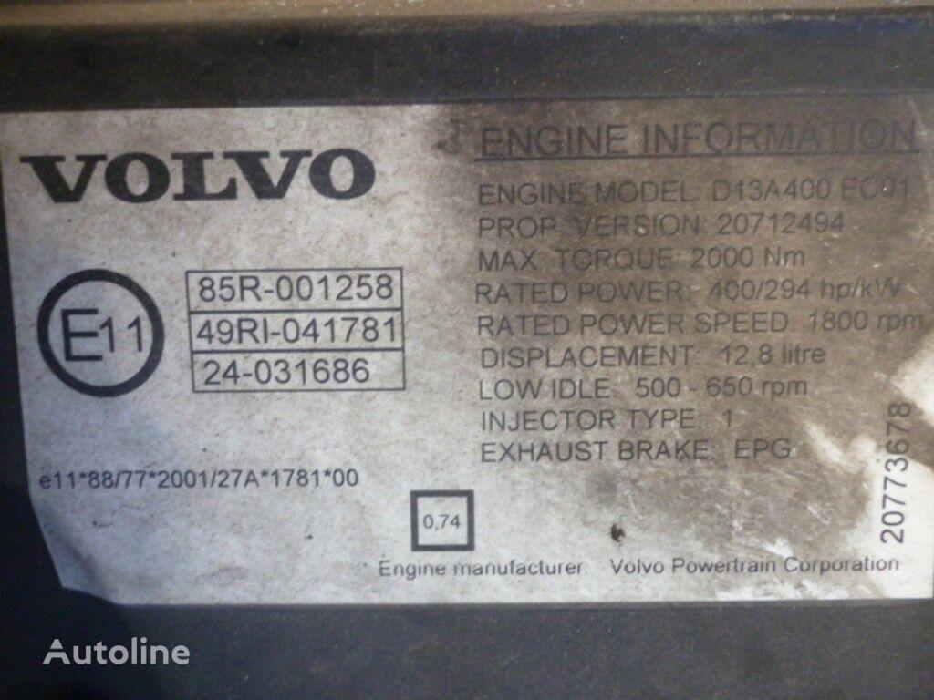 φορτηγό VOLVO για κινητήρας VOLVO D13A400 EC01