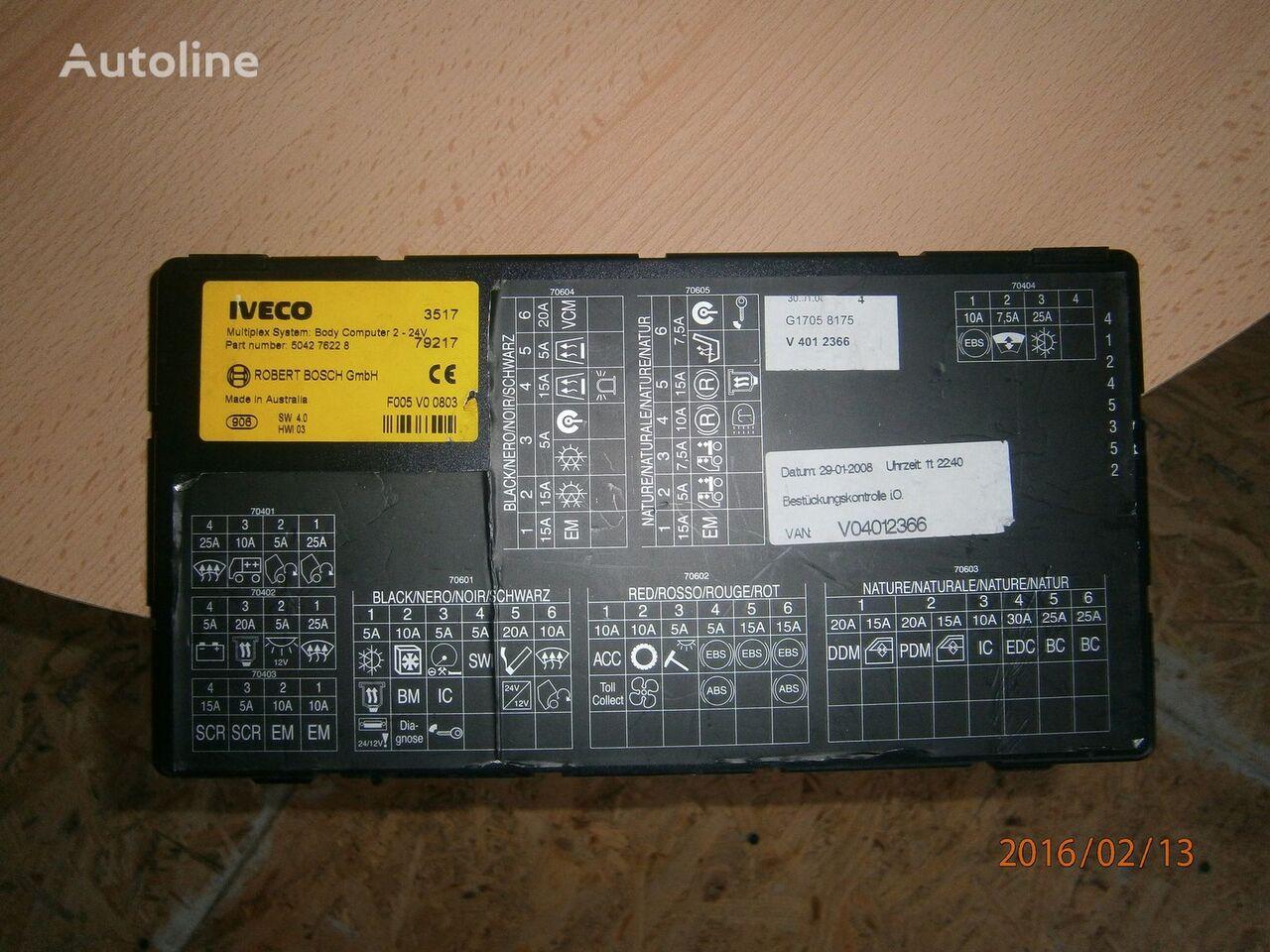 τράκτορας IVECO Stralis για μονάδα ελέγχου IVECO EURO5 Multiplex system body computer 504276228