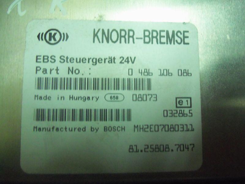 τράκτορας MAN TGX για μονάδα ελέγχου MAN TGA, , Electronic brake system EBS 81258087047, 81258087054,
