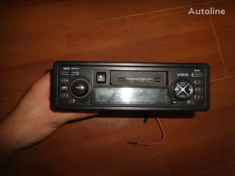 φορτηγό για ραδιόφωνο  VDO CR231 12V