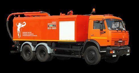 φορτηγό βυτιοφόρο καθαρισμού υπονόμων KAMAZ KO-560