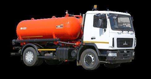 όχημα εκκένωσης βόθρων MAZ Vakuumnaya mashina KO-523