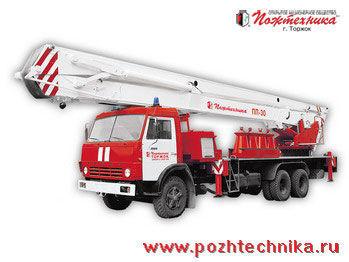 πυροσβεστικό κλιμακοφόρο KAMAZ PPP-30 Penopodemnik pozharnyy