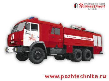 πυροσβεστικό όχημα KAMAZ AKT-6/1000-80/20 Avtomobil kombinirovannogo tusheniya