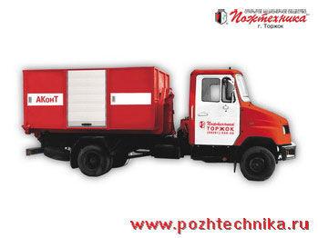 πυροσβεστικό όχημα ZIL AKonT Avtomobil konteynernogo tipa
