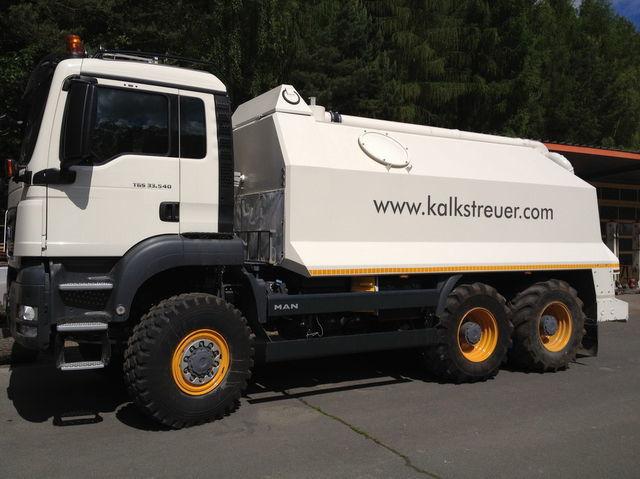 ανακυκλωτής MAN spreader for laim or cement TGS 33.440 - 6x6