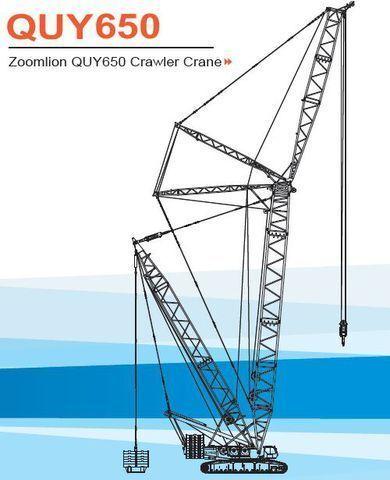 καινούριο ερπυστριοφόρος γερανός ZOOMLION   QUY650