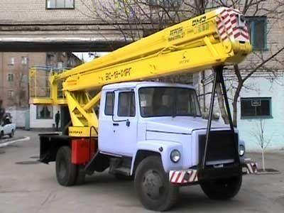 καλαθοφόρο όχημα GAZ VS—18 Podemnik VS—18 s 5ti mestnoy kabinoy