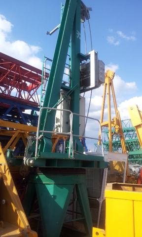 οικοδομικός γερανός (πυργογερανός) POTAIN JASO J 5010 con base, opcion cabina