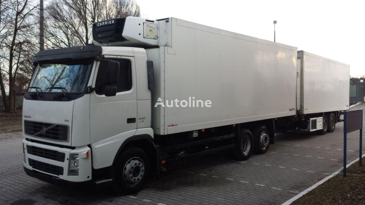 φορτηγό ψυγείο VOLVO FH440 Chłodnia + Przyczepa Tandem 2 x winda ! 12.2008 36EP Euro5 + ρυμουλκούμενο ψυγείο