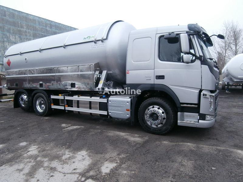 φορτηγό βυτιοφόρο μεταφοράς αερίου VOLVO + ρυμουλκούμενο