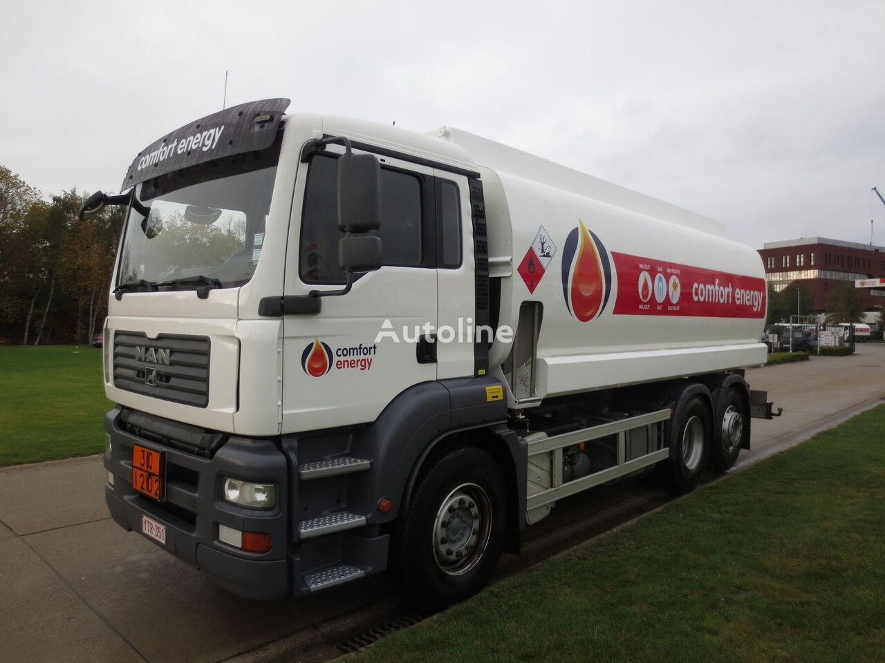 βυτιοφόρο φορτηγό μεταφοράς καυσίμου MAN