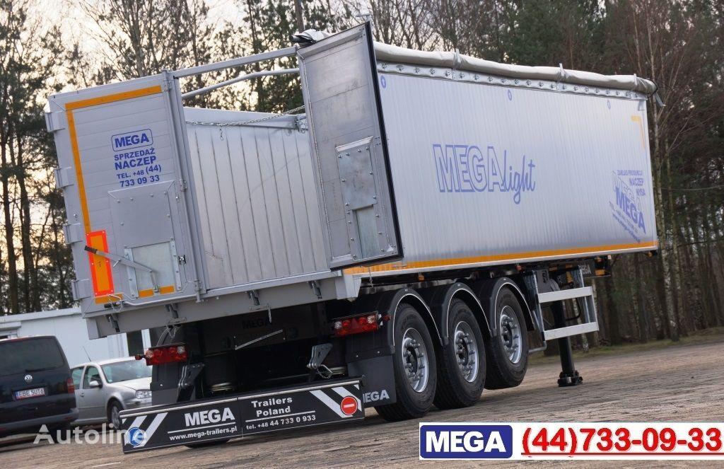 καινούριο ημιρυμουλκούμενο ανατροπής MEGA 45 m³ - alum. tipper SUPER-LIGHT - 5,300 KG & hatch door - READY