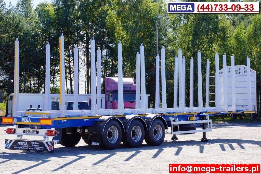 καινούριο ημιρυμουλκούμενο μεταφοράς ξυλείας MEGA 10 U STANCHION - TIMBER SEMI-TRAILER/HOLZAUFLIEGER- READY ! BERE