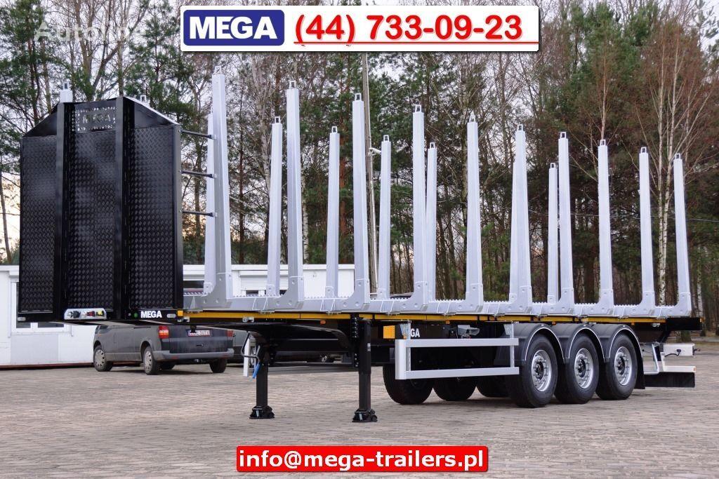 καινούριο ημιρυμουλκούμενο μεταφοράς ξυλείας MEGA 3 AXEL WOOD CARIER NEW