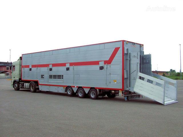 καινούριο ημιρυμουλκούμενο όχημα μεταφοράς ζώων PEZZAIOLI SBA31 1+2