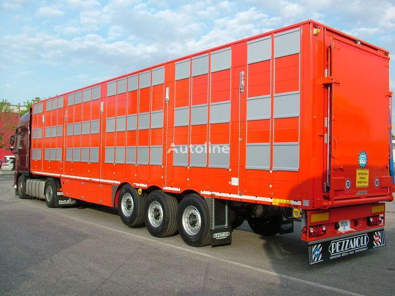 καινούριο ημιρυμουλκούμενο όχημα μεταφοράς ζώων PEZZAIOLI SBA63 3 etazha zagruzki
